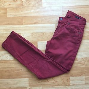 Red Citizens of Humanity Straight Leg Pants